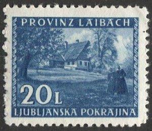 Yugoslavia  Ljubljana / Laibach 1945 Sc N69 20L MLH VF