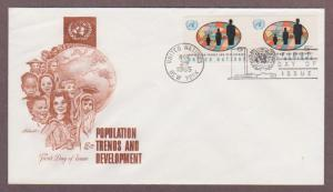 UN # 152 , Population Trends Pair on Artmaster FDC - I Combine S/H