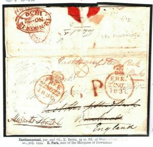IRELAND FREE GB *Easthampstead* COFFEE HOUSE Inspector Mark 1830 {samwells} P94b