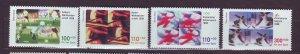 J23316 JLstamps 1998 germany set mnh #b827-30 sports
