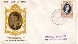 Swaziland 1954 Queen Elizabeth II  Coronation 1953 Typed FDC to Joh'burg
