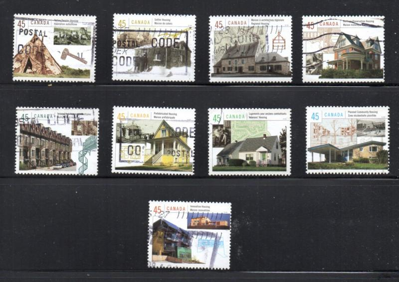 Canada Sc 1755a-55i 1998 Housing in Canada stamp set used