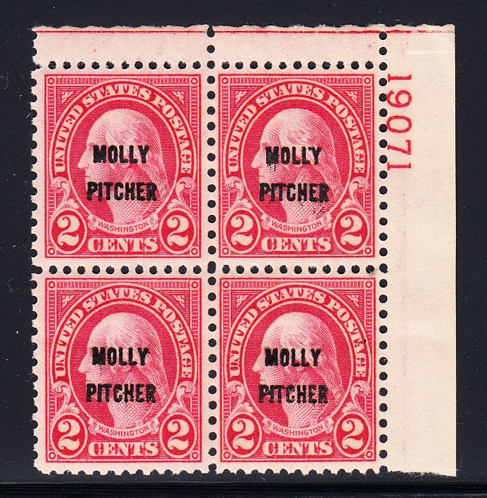 #646 XF/S NH Plate block, Choice and Select!