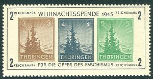 GERMANY SOVIET ZONE - THURINGEN Michel Bl. #1t NH