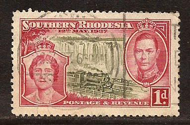 Southern  Rhodesia  #  38  used