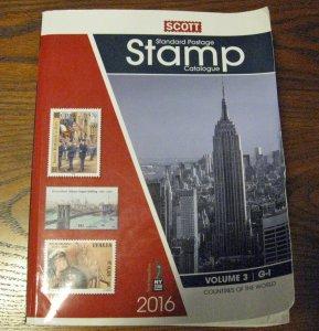 2016 Scott Stamp Catalogue Countries G-I