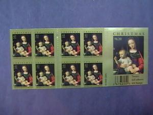 U.S.# 4206a-MNH--BOOKLET PANE OF 20--CHRISTMAS---2007