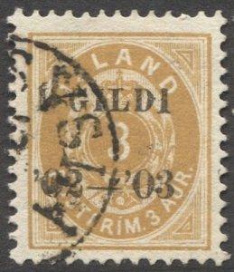 ICELAND 1902  Sc 49 3a  Used VF, partial DALASYLA cancel, cv $525
