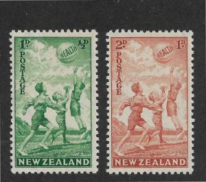 New Zealand Scott # B16-17 VF OG never hinged scv $ 32 ! nice colors ! see pic !