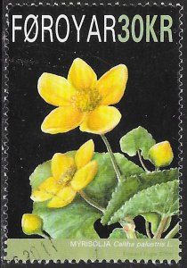Faroe Islands 501 Used - Flower - Marsh Marigold (Caltha palustris)