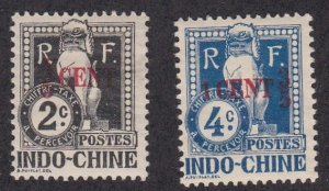 Indo-China # J19-19, Postage Due - Surcharges,  Hinged, 1/3 Cat.