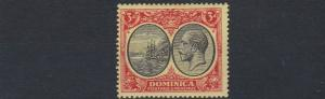DOMINICA  1923 - 33   S G  80    3D   BLACK  &  RED/YELLOW            MH