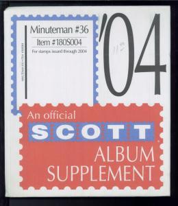 2004 Minuteman #36 United States Stamp Album Supplement Item #180S004