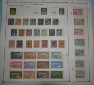 GUADELOUPE OLD COLLECTION  MINT AND USED  z921