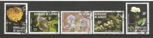 DJIBOUTI 498-501 VFU FLOWERS H135-1
