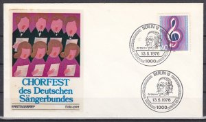 Germany, Scott cat. 9n386. Choir Festival issue. First day cover. ^
