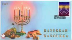 CA19-046, 2019, Hanukkah, Pictorial Postmark, First Day Cover,