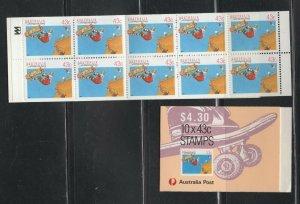 Australia #1119a  (1990 43c Windsurfing booklet) VFMNH CV $8.50