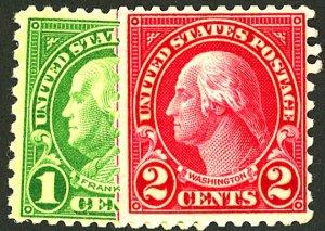 U.S. #578-579 MINT OG NH