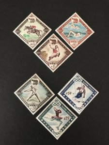 Monaco 1960 #454-9, MNH, CV $5.40