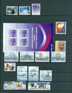 Greenland. 2002 Lot. MNH. 15 Stamps. 1 Souvenir Sheet.
