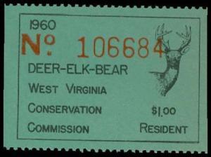 U.S. WV ST. REVS DE1  Mint (ID # 29987)