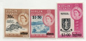 British Virgin Islands - SG# 207 - 209 MLH  / Lot 0619048