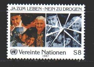 UN Vienna. 1987. 72 of the series. Anti-drug company. MNH.
