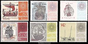 Qatar Scott 126-126E Mint never hinged.