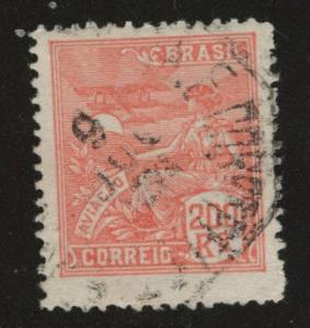 Brazil Scott 247 Used from 1922-29 set on watermarked paper