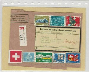 SWITZERLAND COMMERCIAL RECORDED  PARCEL POST  COVER FRONT