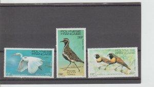 French Polynesia  Scott#  370-372  MNH  (1982 Birds)