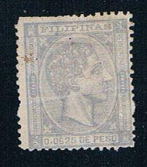 Philippines 65 MH King Alfonso 1878 (P0110) perf damage