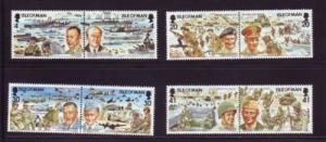 Isle of Man Sc 600--7 1994 D Day Landings stamp set mint NH