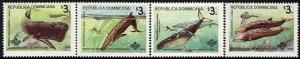 1995 Dominican Republic Scott 1196-9 Whales MNH
