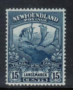 Newfoundland #124 Very Fine Never Hinged Variety **With Certificate**