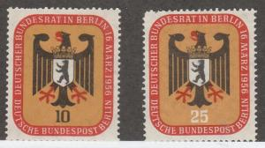 GERMANY - BERLIN #9N118-9 MINT NEVER HINGED COMPLETE