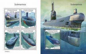 Z08 ST190311ab Sao Tome and Principe 2019 Submarines MNH ** Postfrisch
