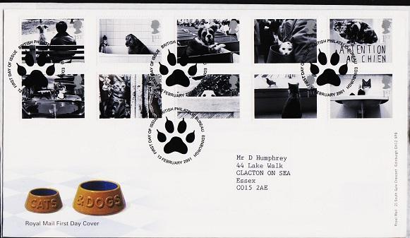 Great Britain. FDC.2001.Cats and Dogs. Fine Used