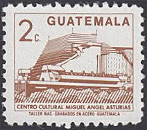 Guatemala # 446 used ~ 2¢ Cultural Center Building