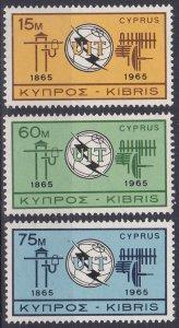 Cyprus Sc #257-259 Mint Hinged