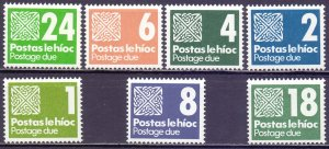 Ireland. 1980. 25-31. postage due. MNH.