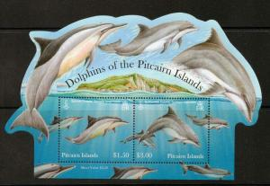 PITCAIRN ISLANDS SGMS853 2012 DOLPHINS MNH