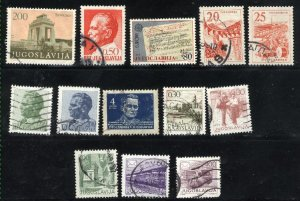 Yugoslavia   13 different Used PD