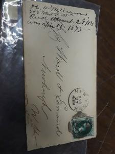 1875 Letter With 13 Cancel