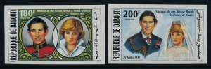Djibouti 529-30 imperf MNH Pricne Charles, Princess Diana Wedding