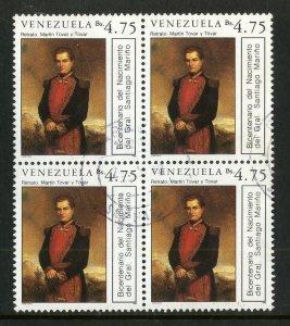 VENEZUELA 1419 USED BK-4 BIN $1.00 MILITARY