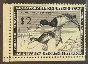 US Stamps #RW21 Used Federal Ducks #RW21A167
