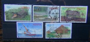 Kenya 1997 Local Tourist Attractions set Used