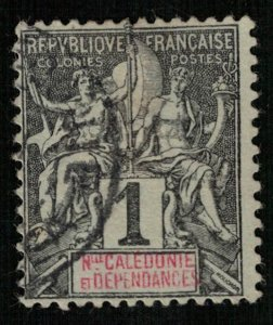 New Caledonia, Inscription: NLLE CALÈDONIE et DEPENDANCES (R-3307)